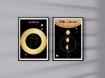 Libra Waga znak zodiaku plakat grafika przedpokój