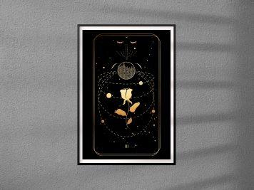 plakat do salonu lub sypialni tarot cesarzowa