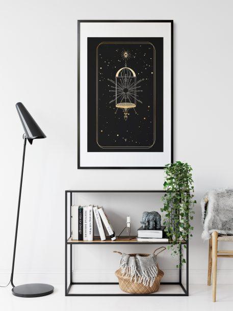 plakat na ścianę tarot kapłan