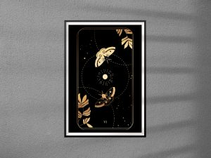 Plakaty Karta Tarota 06 -  The Lovers - Kochankowie - plakat pojedynczy