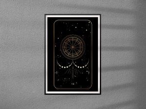 Plakat Karty Tarota 07 -  The Chariot - Rydwan - plakat pojedynczy