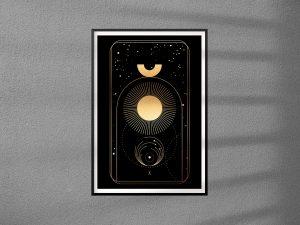 Plakat Karta Tarota 10 -  The Wheel of Fortune - Koło Fortuny - plakat pojedynczy