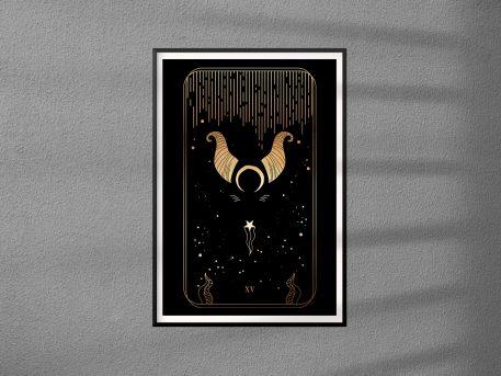 tarot plakat na ścianę diabeł