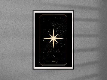 karta tarota plakat na ścianę gwiazda