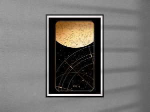 Karty Tarota 21 -  The World - Świat - plakat pojedynczy